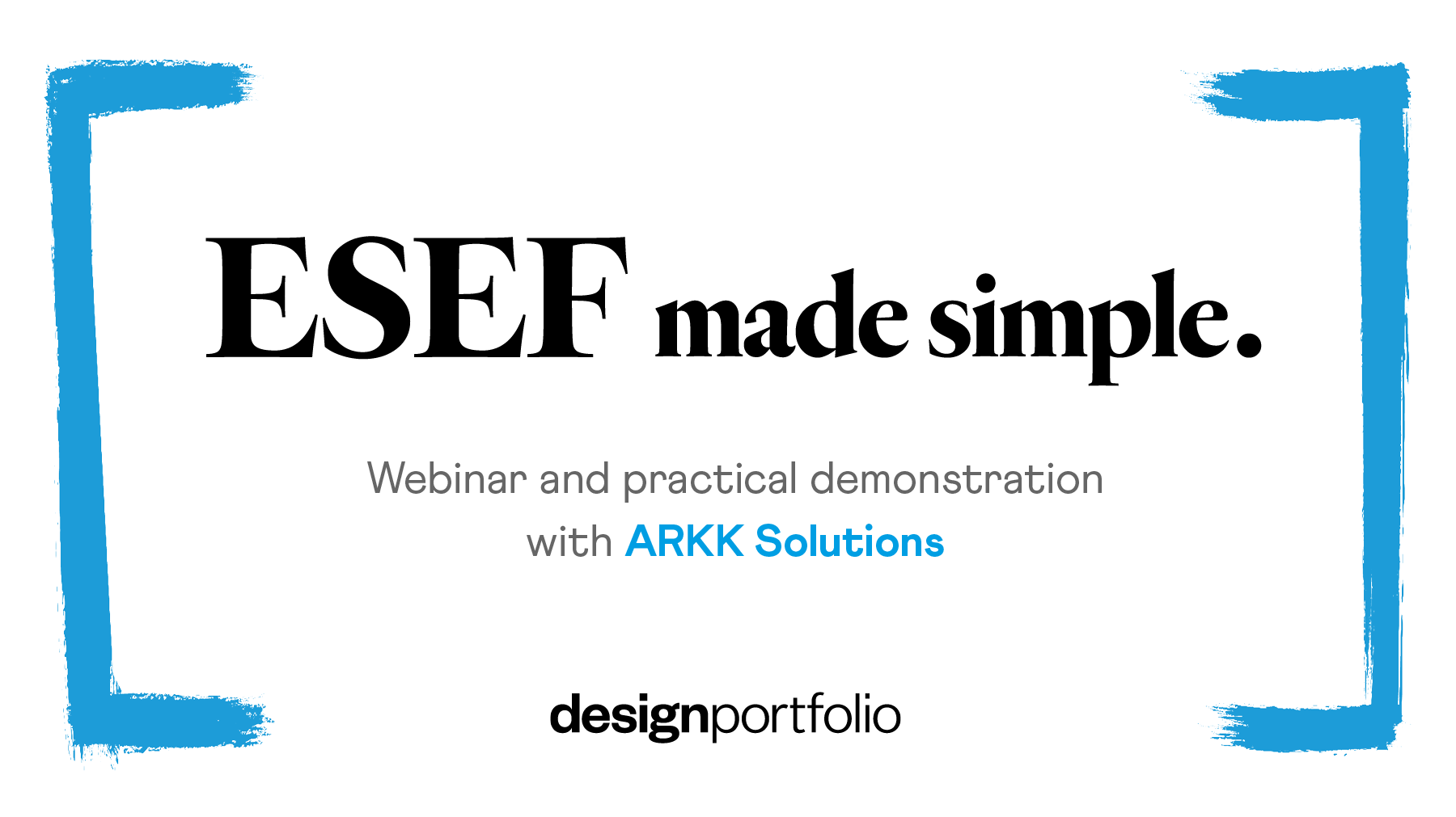 Event highlights: ESEF made simple
